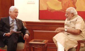 Azim Premji with Narendra Modi
