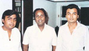 Dhirubhai Ambani with his son Mukesh & Anil Ambani