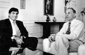 JRD Tata with Ratan Tata