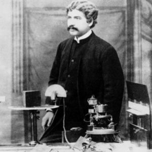 Young Jagadish Chandra Bose with his Invention