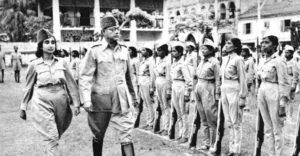 Netaji with Rani of Jhansi Regiment