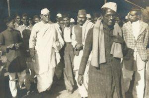 Netaji Leading the Protest