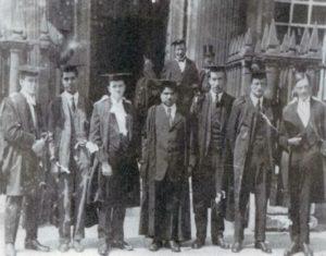 Ramanujan with his peers