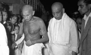 Sardar Patel with Gandhiji
