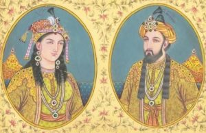 Empress Bega Begun and Emperor Humayun