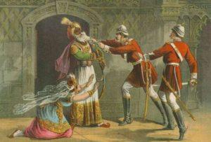 Bahadur Shah Zafar Surrender to British