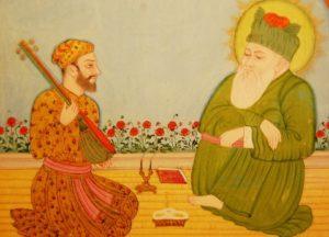 Amir Khusrau with Sufi saint Hazrat Nizamuddin Auliya