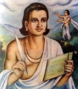 He studied the Puranas and other ancient texts, and become a great poet.