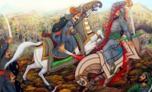 Brave Medieval Rajput Warrior