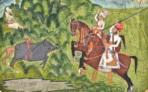 Rajput Hunting Boar