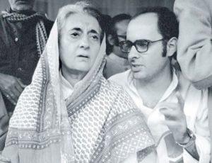 Indira Gandhi with her son Sanjay Gandhi