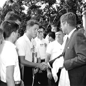 Bill Clinton Meets JF Kennedy