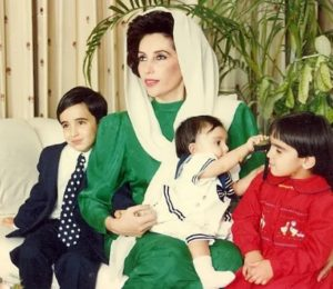 Benazir Bhutto With her children