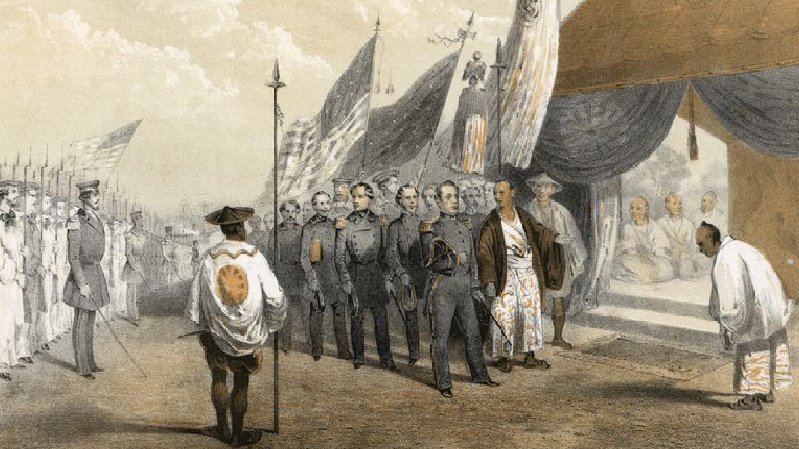 Commodore Matthew Perry Forced Japan to Open for Trade